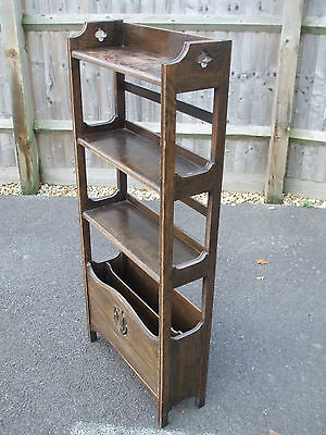 Antique Liberty Arts & Crafts oak bookcase, all original, fast economy delivery
