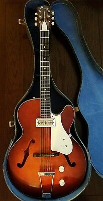 Vintage Harmony Rocket H53 Guitar with Case Made in USA 1960s
