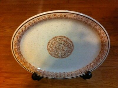 """Vintage Buffalo 908B Oval Platter Plate 10"""" x 12"""", Excellent condition"""