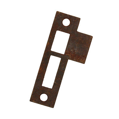 "Antique Strike Plates for Mortise Locks, 5/32"" Spacing, NSTP57"
