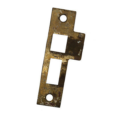 "Antique Strike Plates for Mortise Locks, 9/32"" Spacing, NSTP56"