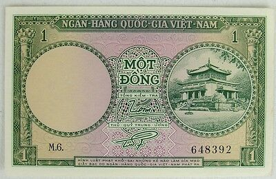 South Vietnam Nd 1955-56  1 Dong, P1, Uncirculated Note