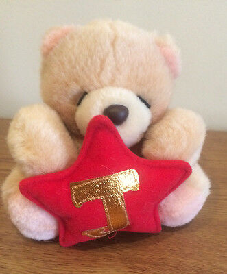 """Forever Friends small teddy bear with letter 'J' by Andrew Brownsword 4"""" VGC"""