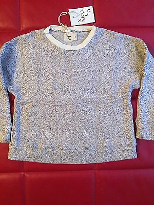 Sweater boy girl 4T 5T 4-5 Yr Nico Nico Organic Cotton Ivory Pullover MSRP $85