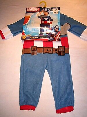 Toddler Halloween Costume: Size 2T-4T.  Marvel: Captain America  NEW with tags