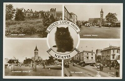 Neath Multiview photographic Postcard. GLAMORGAN