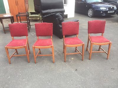 Four Old Dining Chairs For Painting / Restoration / Recover