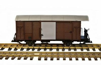 Zenner COVERED GOODS WAGON Brown Converted on Gauge 2 (64mm)
