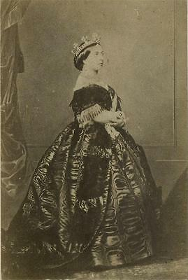 CDV: Queen Victoria by Clifford of Madrid. Dated 1861
