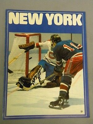 1973 New York Rangers vs. Toronto Maple Leafs Hockey Program
