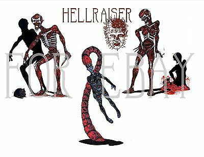 HELLRAISER II HELLBOUND Full Color Production Art  Character Concept Drawings