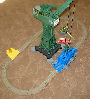 Thomas & Friends, Trackmaster, Cranky & Flynn Save the Day Set, Complete, EUC