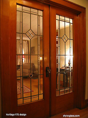 Heritage design Leaded glass French Doors