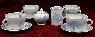 Asiatic Pheasant Burleigh Pottery Breakfast Set from England
