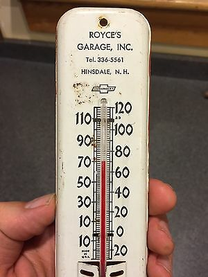 Antique Vintage Chevrolet Advertising Thermometer Working Gas Station