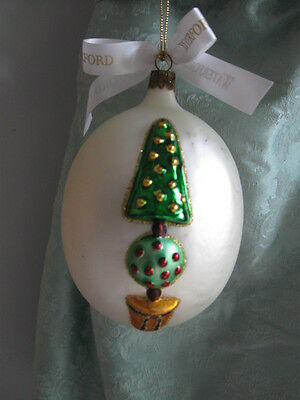 Waterford Heirlooms Christmas Ornament Holiday Topiary Egg Original Box
