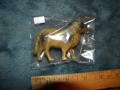 """Vintage Celluloid Dog~Beautiful Colors~3.5"""" Wide~Rotweiler?"""
