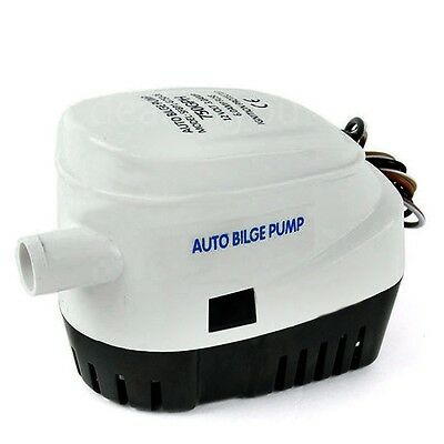 12V 750GPH Automatic Bilge Pump Auto Boat Submersible Pump Marine Float Switch