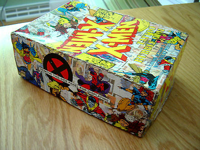 Vtg 1994 Tattoo Bubble Gum Box Only Illustrated Comic Art Complete Box Marvel A+