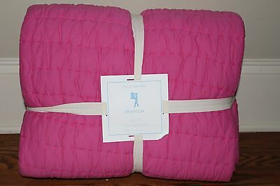 NWT Pottery Barn Kids Branson twin quilt reversible bright pink gray