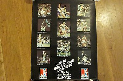 1980-81 Vote For Your Favorite Seattle Sonics Poster-