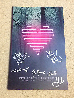 Fitz And The Tantrums More Than Just A Dream Signed Album Poster Noelle Scaggs +