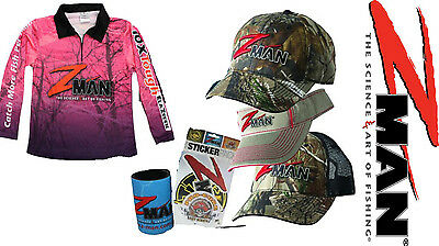Zman Pink Ladies Fishing Gift Pack inc Tournament Shirt, Hat, Cooler, Stickers