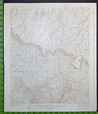 Tonto National Forest Promontory Butte Arizona Antique Topographic Map 1937