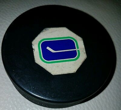 Vancouver Canucks Vintage Hockey official  Puck made in Czechoslovakia