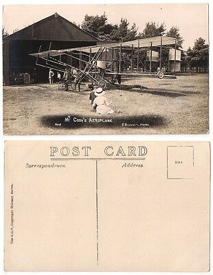 MR CODY'S AEROPLANE 1913 RP Vintage Postcard by F SCOVELL No 15