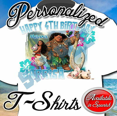 New Custom Personalized Moana Maui Birthday T Shirt Party Add Name