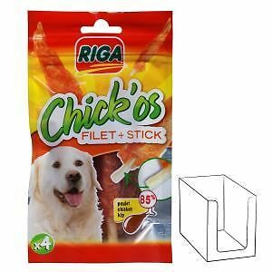 RIGA CHICK'OS filets de poulet + stick x 4 CHIENS