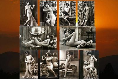 10 Vintage Victorian Risque 7 x 5 Nude Erotic Reproduction Postcard Photos