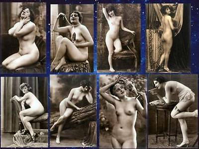 8 Vintage Victorian Risque 7 x 5 Nude Erotic Reproduction Postcard Photos