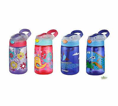 Contigo Kids Gizmo Water Drink Bottle BPA Free Leak Proof Sip 420mL Aussie sellr
