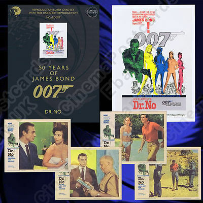 6x 007 James Bond Connery 8-Lobby Sets: Dr NO From Russia With Love Goldfinger