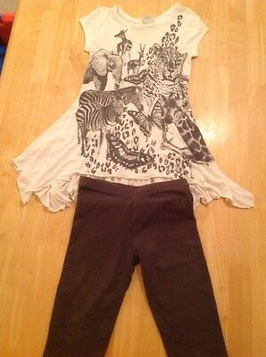 NEXT Animal Motif Top and Leggings Set Age 7