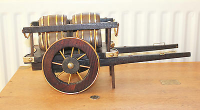 Vintage Large Wooden and Brass Cart for Shire Horse
