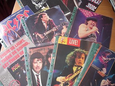 ac/dc file of magazine clippings no bull poster fanzine postcards