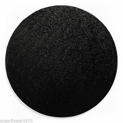 "12"" inch BLACK Round CAKE BOARD / DRUM & BOX  FAST NEXT DAY DESPATCH"