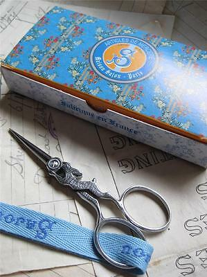 Sajou French Hand Paired Embroidery Scissors- Silver Hare