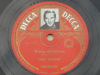 Bing Crosby -White Christmas / God rest, ye merry G., Brunswick, 78er Schellack