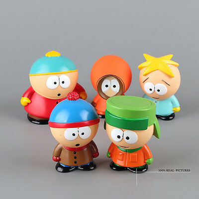 5pcs /South Park Kyle Butters Stan Cartman Kenny Figures In Box Xmas Gift