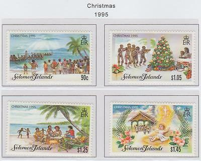 Solomon Islands 1995 Christmas set of 4 stamps U/Mint