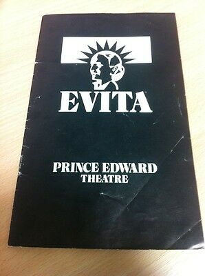 Evita Official Programme Prince Edward Theatre December 1982