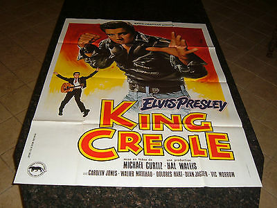 KING CREOLE Original French Grande Movie Poster, C8.5 Very Fine to Near Mint