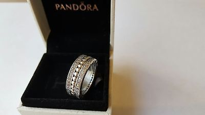 Forever Pandora Sterling Silver Ring. Size 54 S925 ALE   with Pandora Box