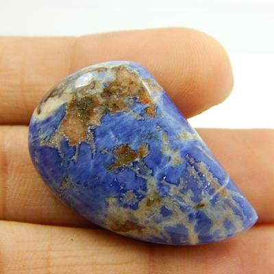 37.8 Cts 100% NATURAL BEAUTIFUL SODALITE NICE BLUE COLOUR CABOCHON T#2001