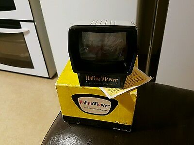 Halina slide viewer in original box and instructions. vgc