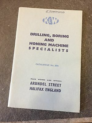 Vintage Drilling Boring Honing Machine Specialist Brochure